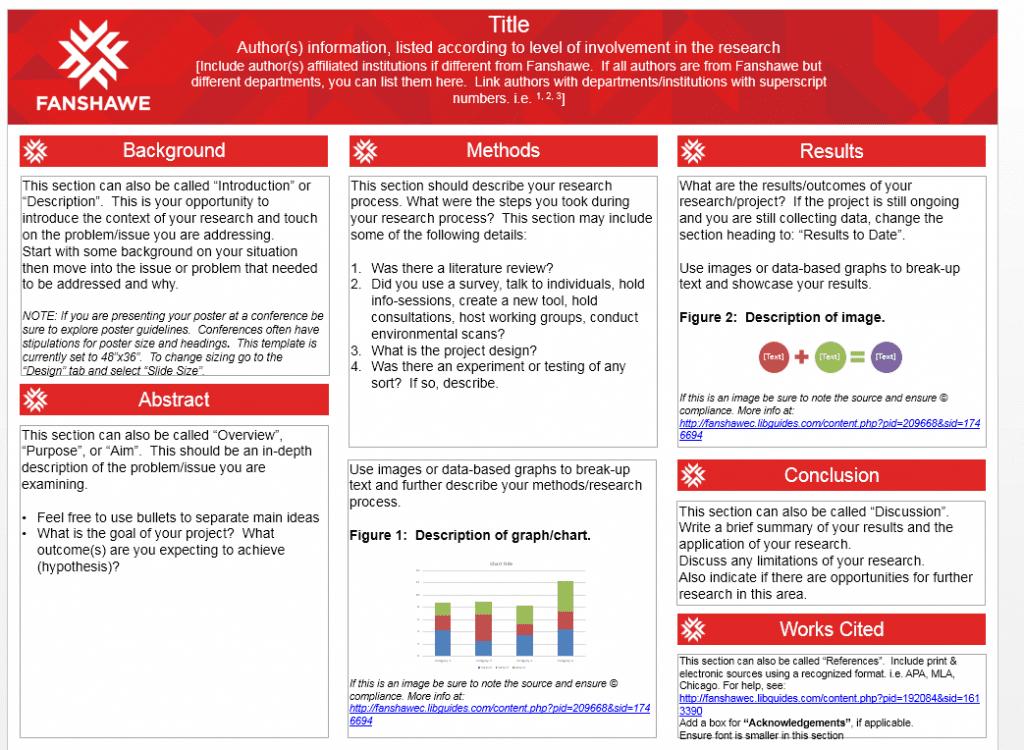 Research poster size apa
