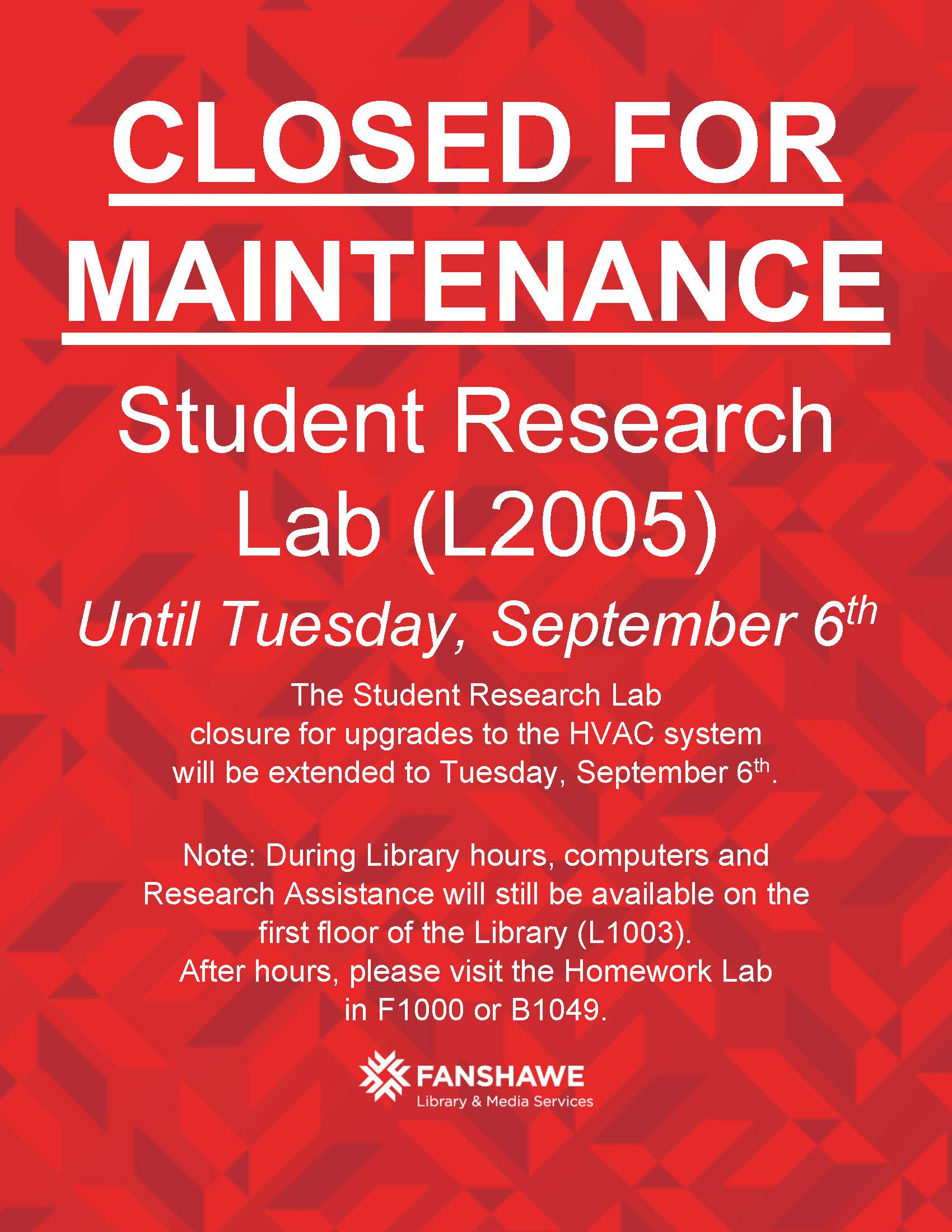 Extension - HVAC Lab Closure - Aug2016