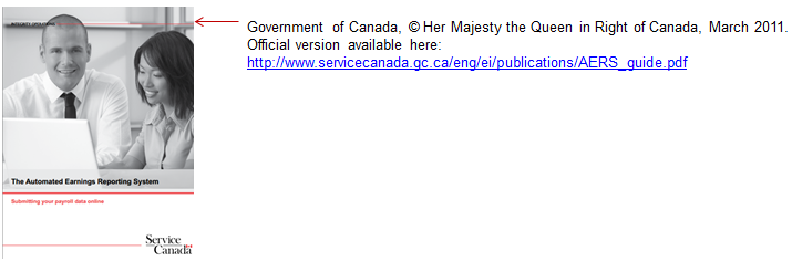 Example of written acknowledgement for federal government publications