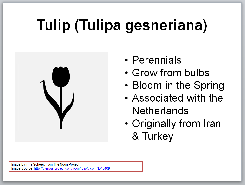 Example of a source acknowledged in a presentation slide