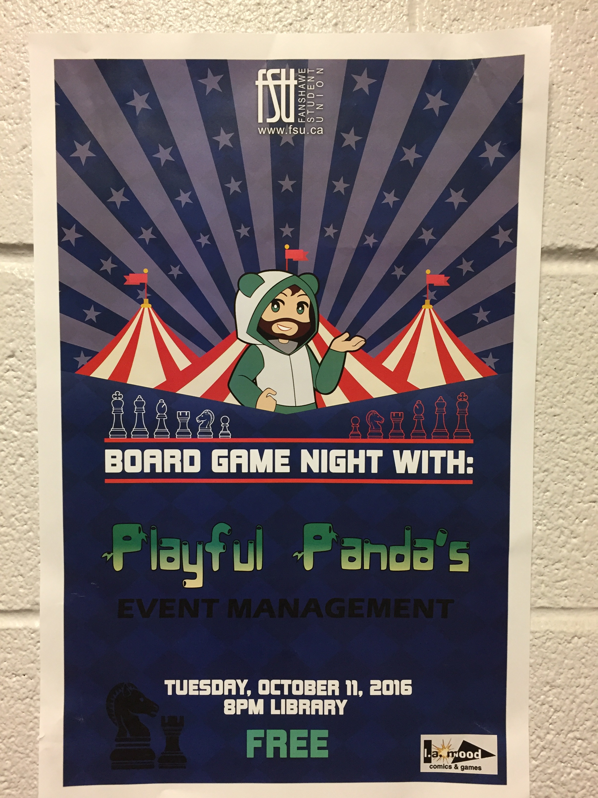 Board Games Night Poster