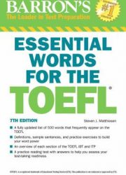 Barron's essential words for the TOEFL Test of English as a Foreign Language