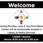 The First Nations Centre will be temporarily located on the third floor of the library starting Monday June 3rd. Their hours of operation are Monday to Friday 8:30 a.m. to 4:30 p.m.