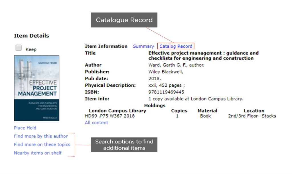How to Search the Catalogue
