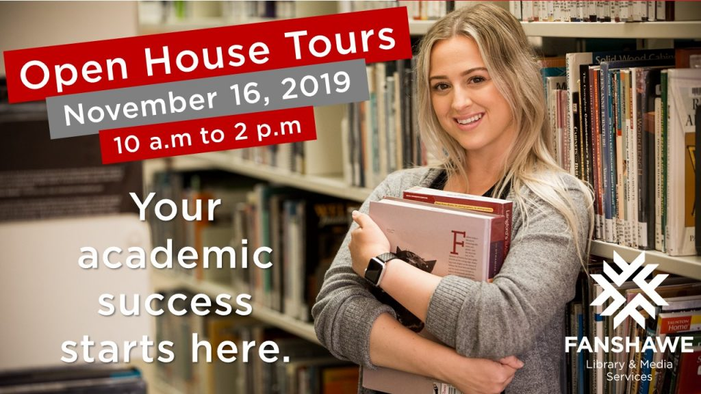 Visit the library for a tour on Open House Day, November 16 2019 from 10:00 a.m. to 2:00 p.m.