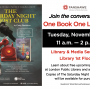 Learn about One Book One London 2019! London Public Library will be visiting to promote events for this years book The Saturday Night Ghost Club by Craig Davidson