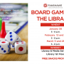 Board Game Nights at the library continue! Join us between 5 and 8 p.m. on January 30, February 12, February 19, March 11, and March 26. Snacks will be provided.