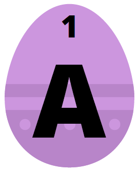 Participate in our Online Easter Egg Hunt! Visit Library News for more information. This egg contains the letter A.