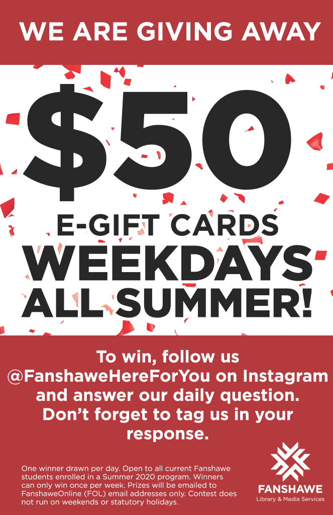Follow @ Here For You on Instagram! We are giving away a $50 gift card every week day, all summer long!
