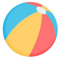Participate in our Online Summer Scavenger Hunt for a chance to win $100 gift card! Visit Library News for more information. This image is a Beach Ball.