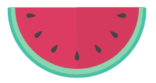 Participate in our Online Summer Scavenger Hunt for a chance to win $100 gift card! Visit Library News for more information. This image is a slice of Watermelon.