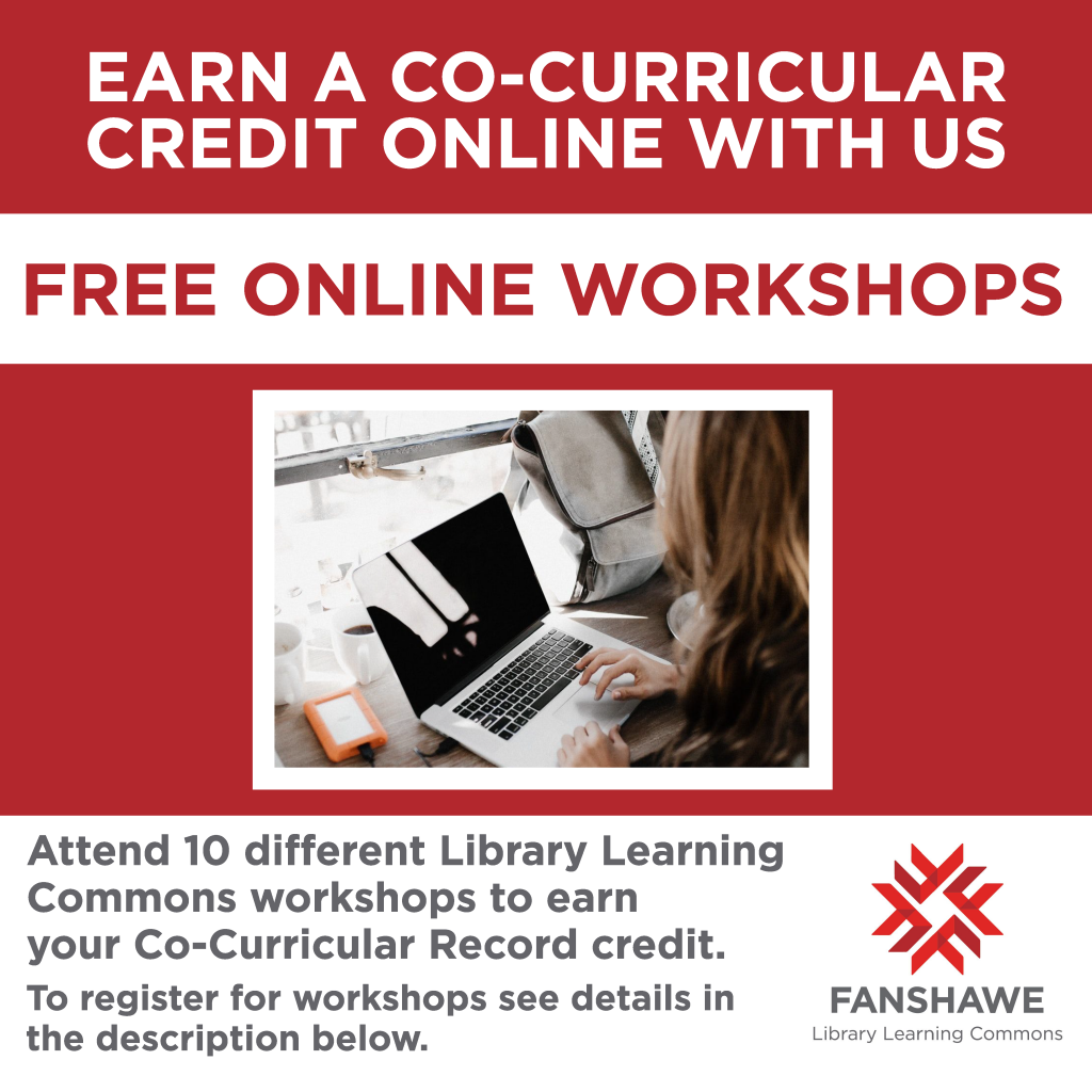 Co-curricular workshops posted! Click Co-Curricular Record Workshops on the homepage under Connect With Us.