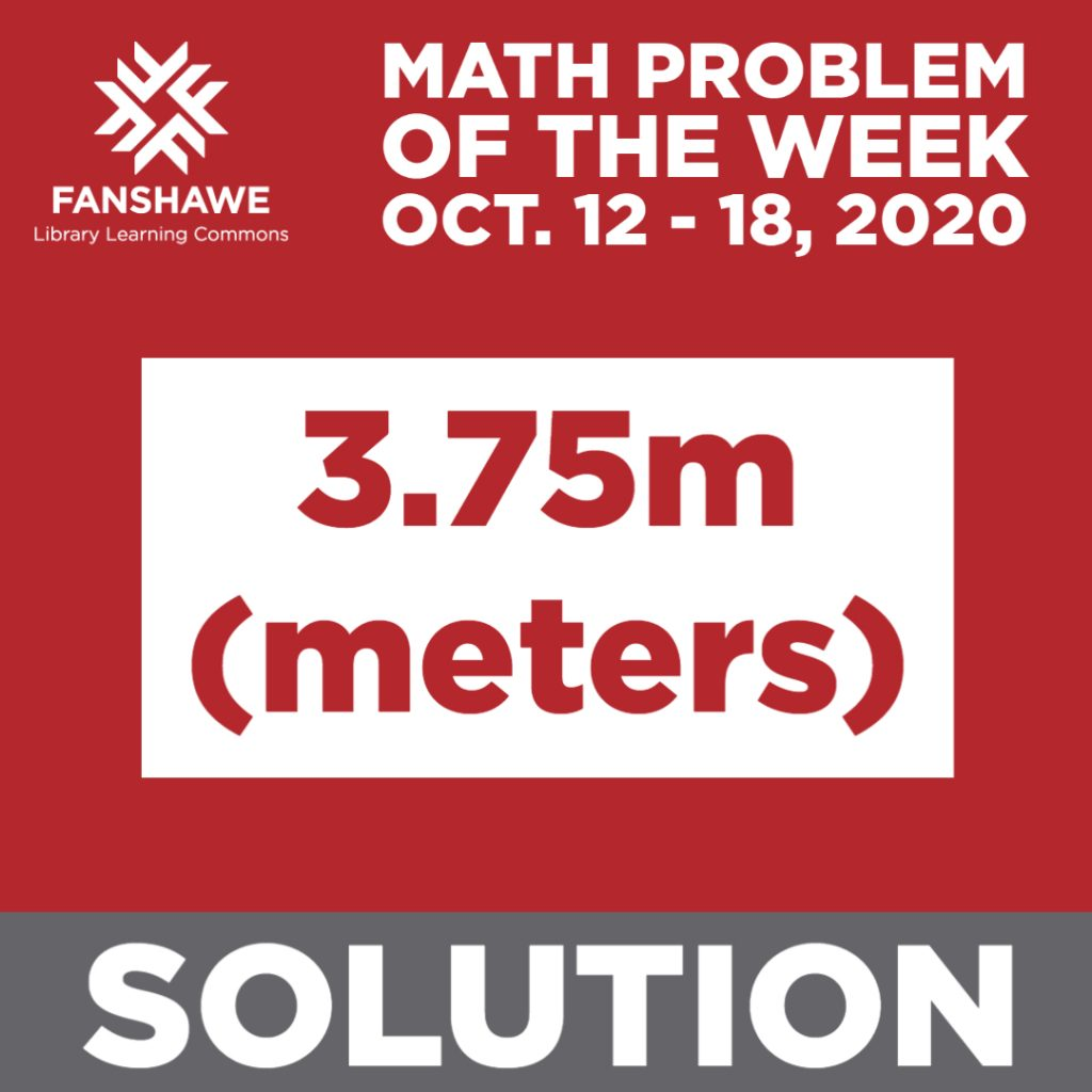 If you require the math problem be converted to an accessible format, please contact sgreen@fanshawec.ca