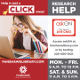Help is just a CLICK away at Fanshawelibrary.com Research Help available. Access askON at Fanshawelibrary.com Or by texting 226-400-0121. Monday to Friday 9 a.m. to 10 p.m., Saturday and Sunday 11 a.m. to 5 p.m.